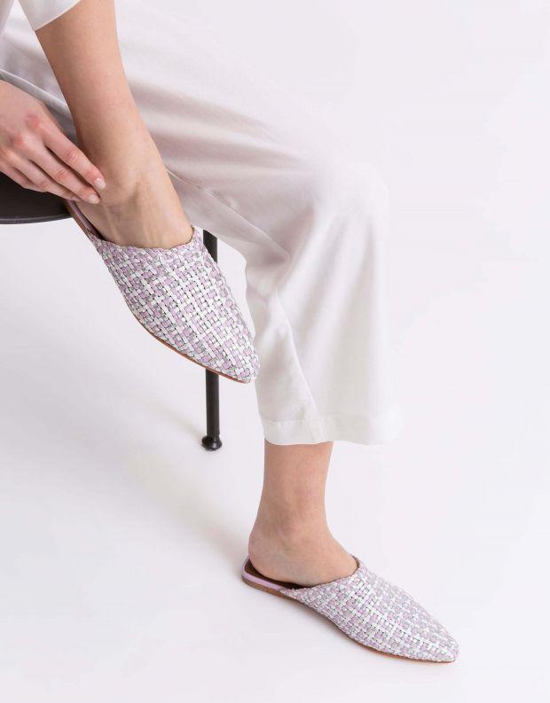 נעלי נשים - Jeffrey Campbell - קבקב KHALESSI - סגול   לבן
