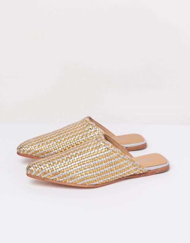 נעלי נשים - Jeffrey Campbell - קבקב KHALESSI - זהב כסף