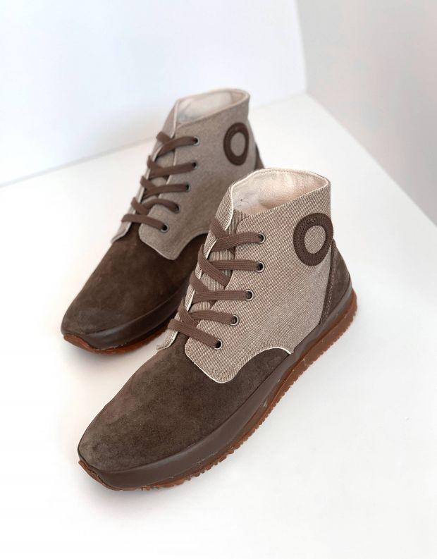נעלי גברים - Aro - סניקרס גבוהות JAQ - חום