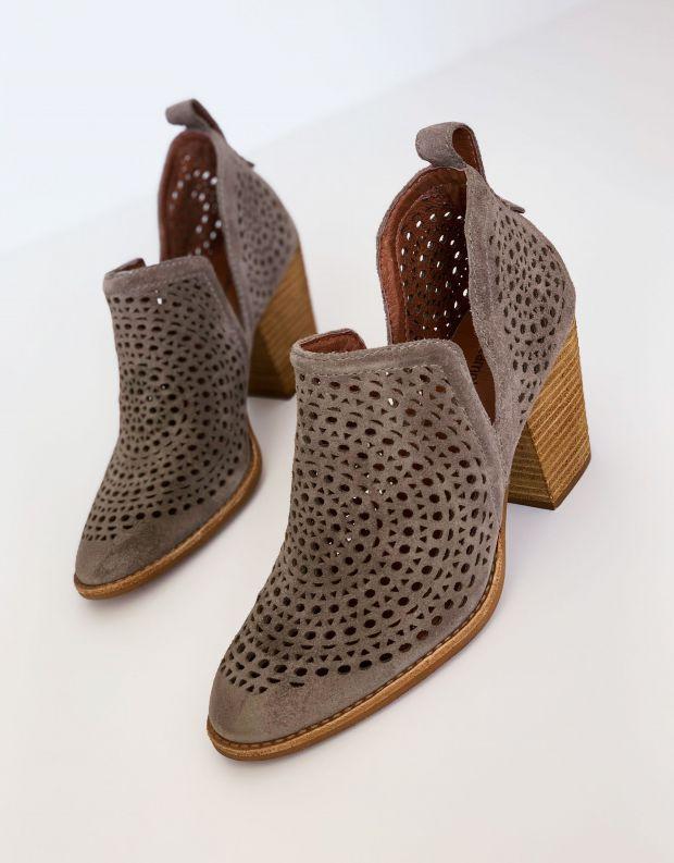 נעלי נשים - Jeffrey Campbell - נעלי עקב ROSALEE  לייזר - אפור