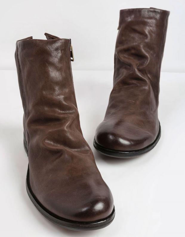 נעלי גברים - A.S. 98 - מגפי עור TRY - חום כהה
