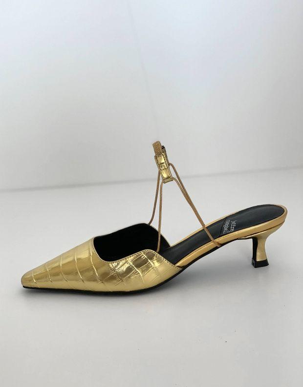 נעלי נשים - Jeffrey Campbell - נעלי סירה ZETA CROCO - זהב