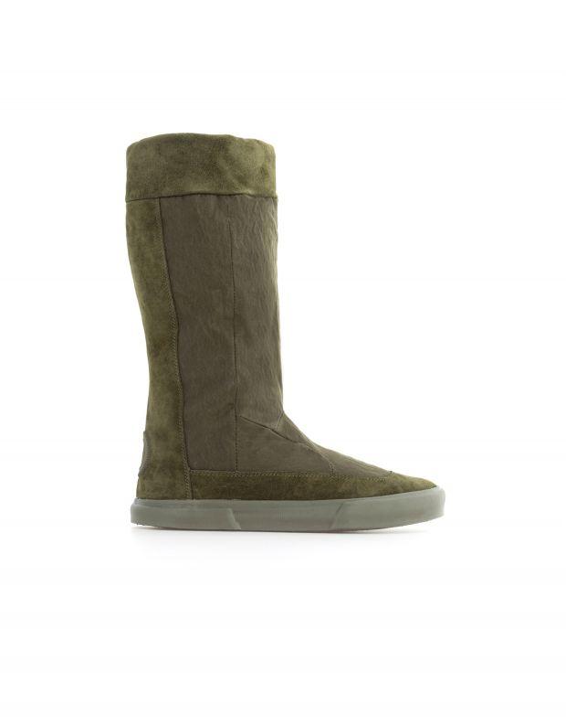 נעלי נשים - Aro - מגפי זמש ובד EMMA - זית