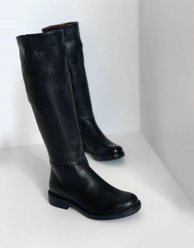נעלי נשים - Mjus - מגפי עור CAFE - שחור