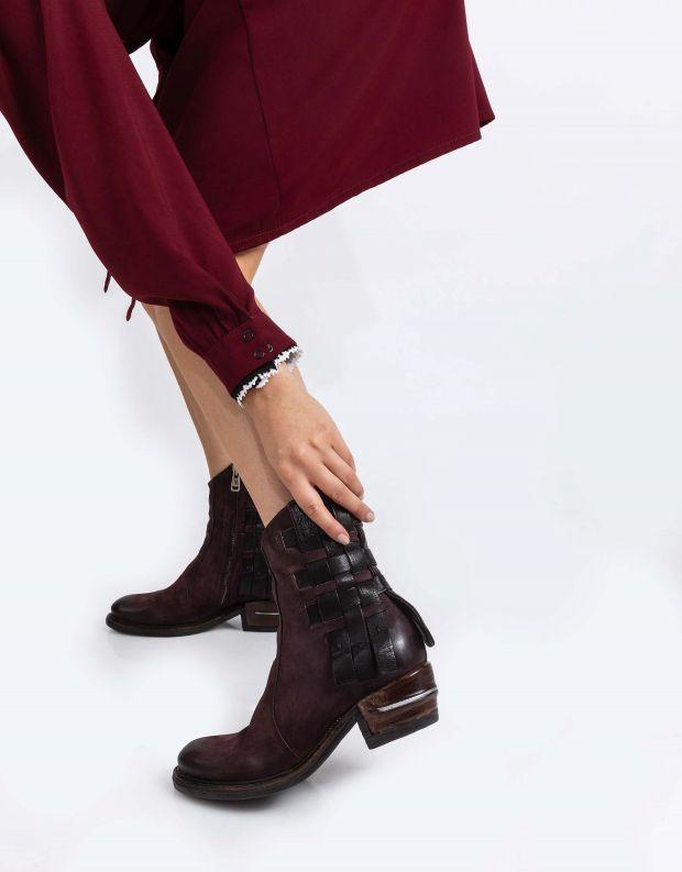 נעלי נשים - A.S. 98 - מגפונים שתי וערב IGNIX - חציל