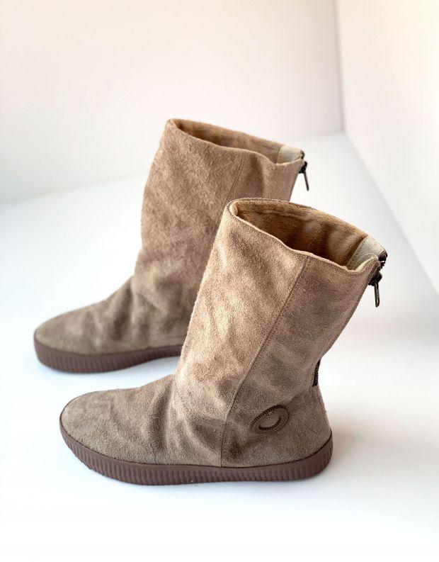 נעלי נשים - Aro - מגפי רוכסן NOELLE PONCHO - חום