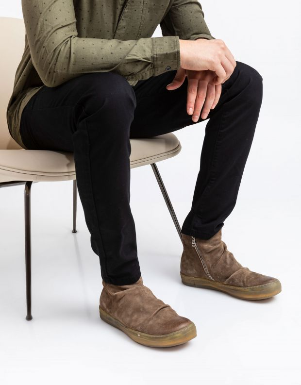 נעלי גברים - A.S. 98 - מגפי עור SAGIT - חום בהיר