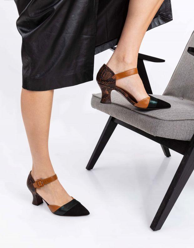 נעלי נשים - Chie Mihara - נעלי VOTULA - שחור ירוק