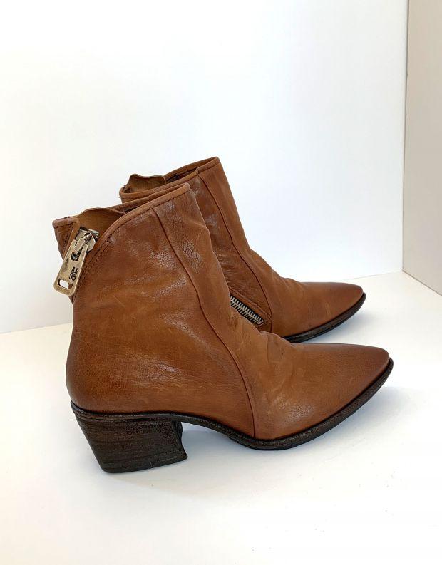 נעלי נשים - A.S. 98 - מגפוני עור PARADE - חום בהיר