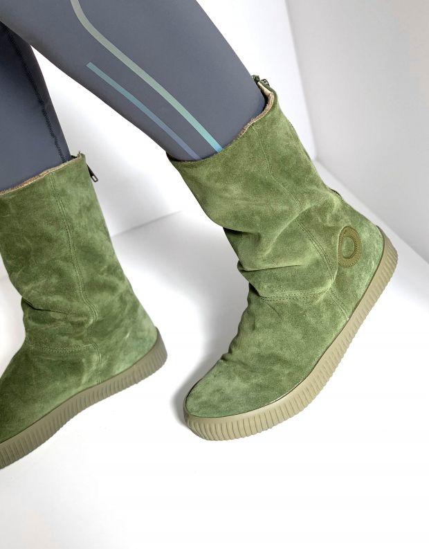 נעלי נשים - Aro - מגפיים עם רוכסן NOELLE - ירוק