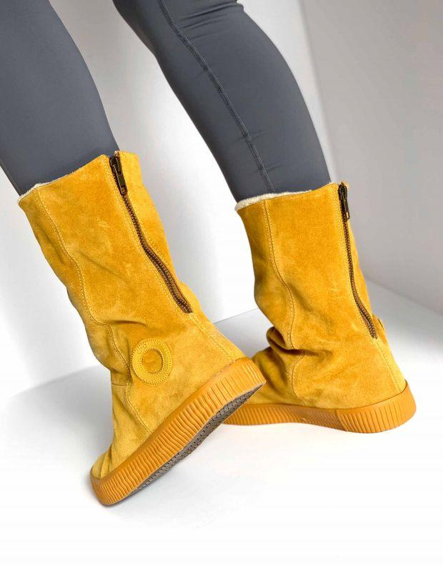 נעלי נשים - Aro - מגפיים עם רוכסן NOELLE - צהוב