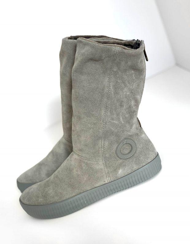 נעלי נשים - Aro - מגפיים עם רוכסן NOELLE - אפור בהיר
