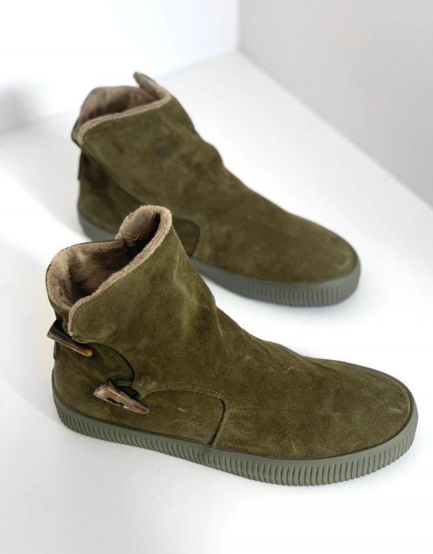 נעלי נשים - Aro - מגפוני כפתורים NOELLE - זית