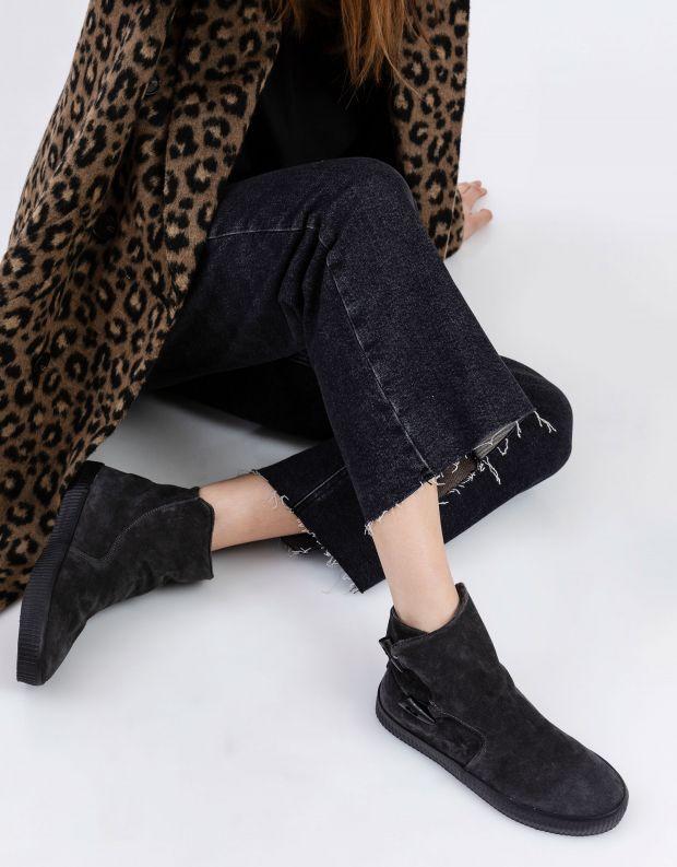 נעלי נשים - Aro - מגפוני כפתורים NOELLE - אפור
