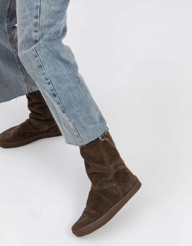 נעלי נשים - Aro - מגפיים עם רוכסן NOELLE - חום