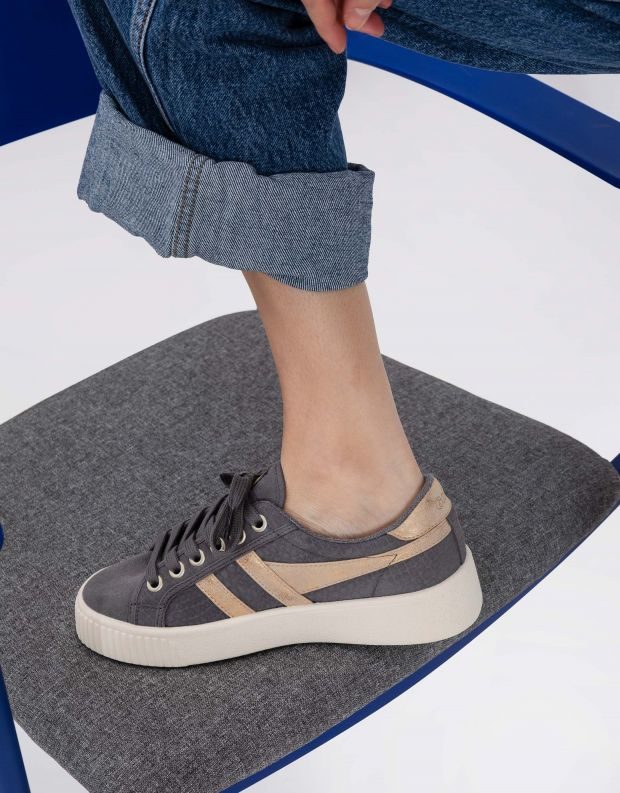 נעלי נשים - Gola - סניקרס BASELINE M C MIRRO - אפור