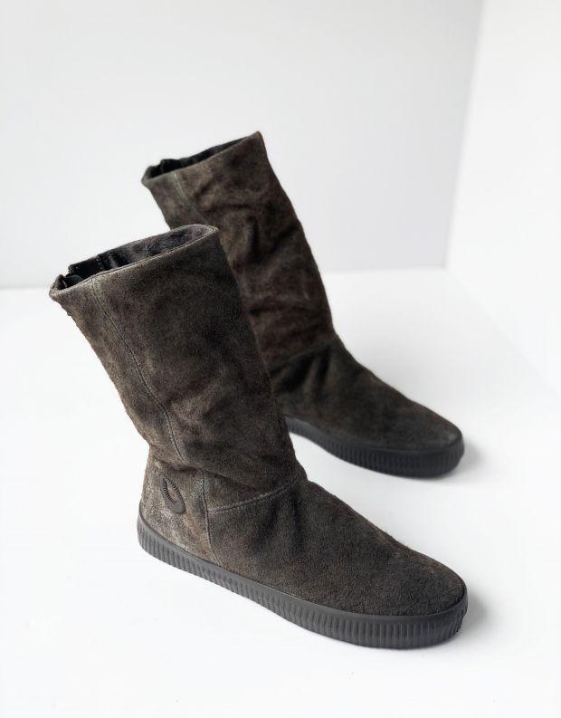נעלי נשים - Aro - מגפי רוכסן NOELLE PONCHO - אפור