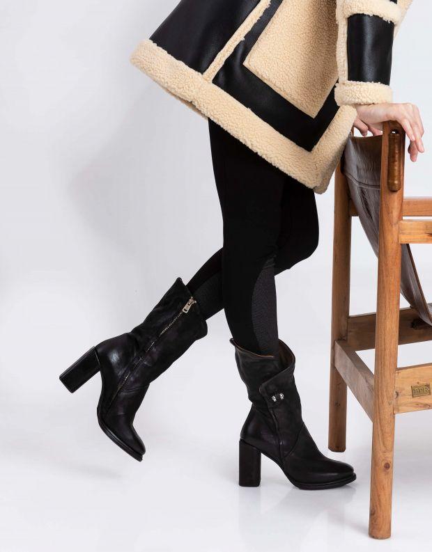 נעלי נשים - A.S. 98 - מגפיים עם עקב SERENITY - שחור