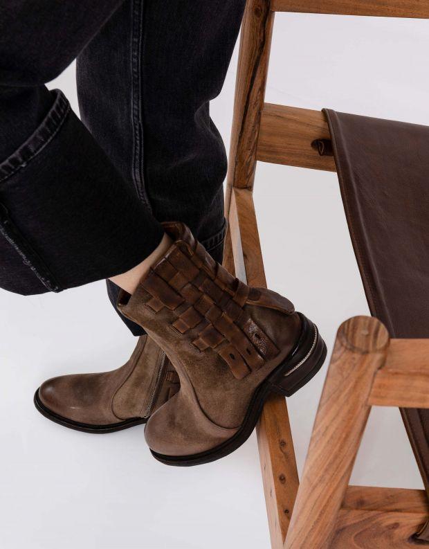 נעלי נשים - A.S. 98 - מגפונים שתי וערב IGNIX - חום