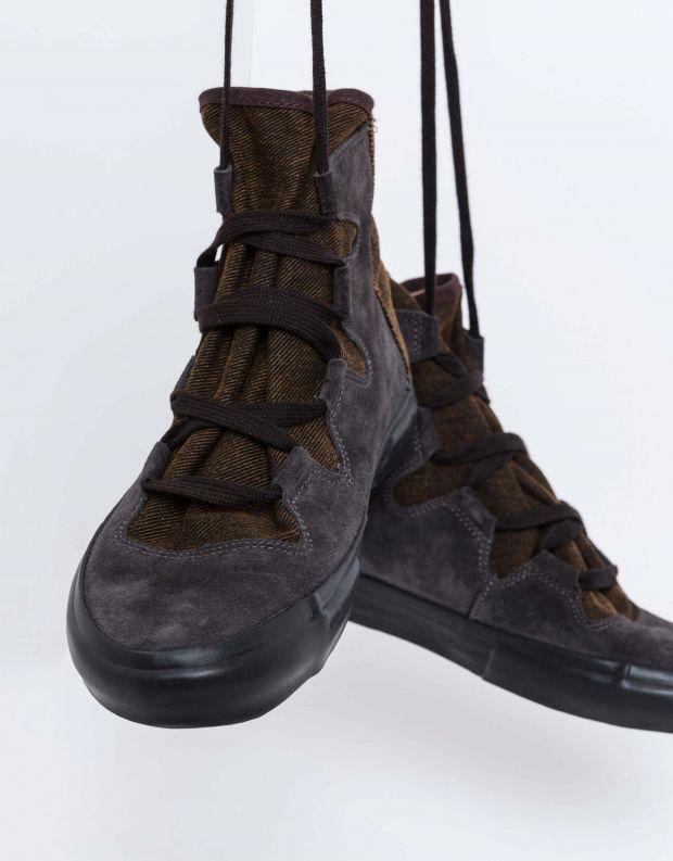 נעלי נשים - Aro - מגפוני קשירה EMMA ג'ינס - אפור