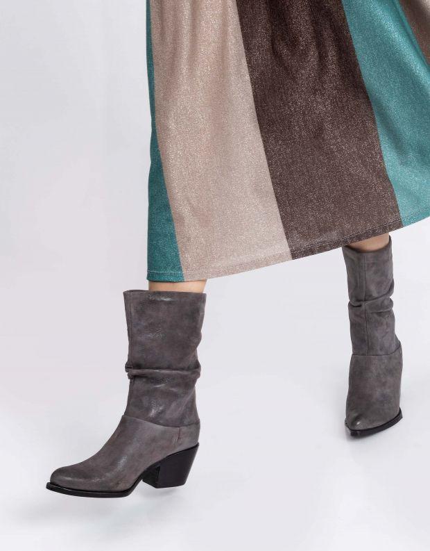 נעלי נשים - Mjus - מגפי עור TEP - אפור