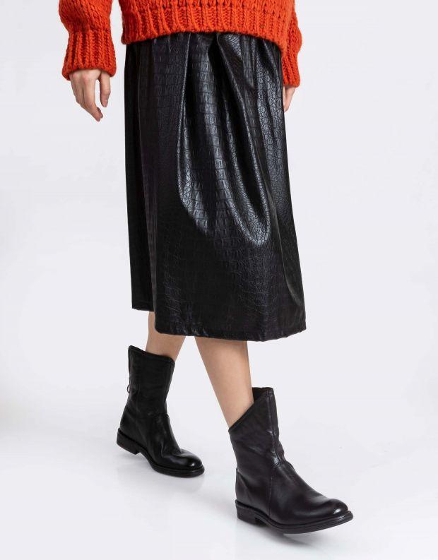נעלי נשים - Mjus - מגפונים אסימטריים PALLY - שחור