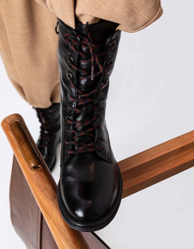 נעלי נשים - Mjus - מגפיים עם שרוכים PALLY - שחור