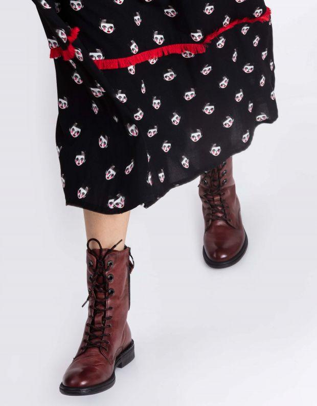 נעלי נשים - Mjus - מגפיים עם שרוכים PALLY - חמרה