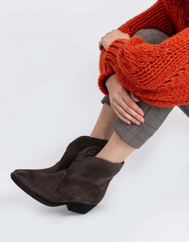 נעלי נשים - Mjus - מגפוני זמש CALMA - חום