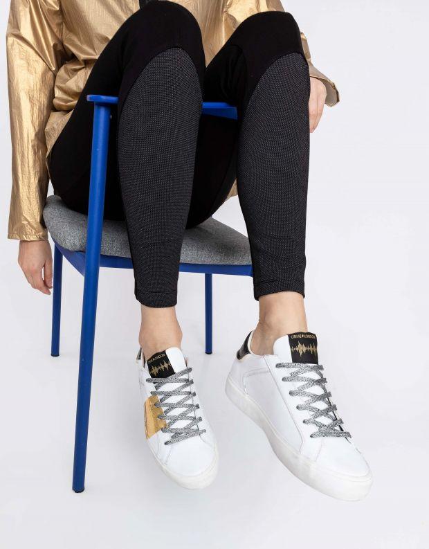 נעלי נשים - Crime London - סניקרס SOUL פס צד - לבן