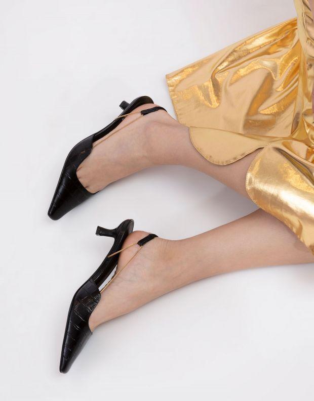 נעלי נשים - Jeffrey Campbell - נעלי סירה ZETA CROCO - שחור