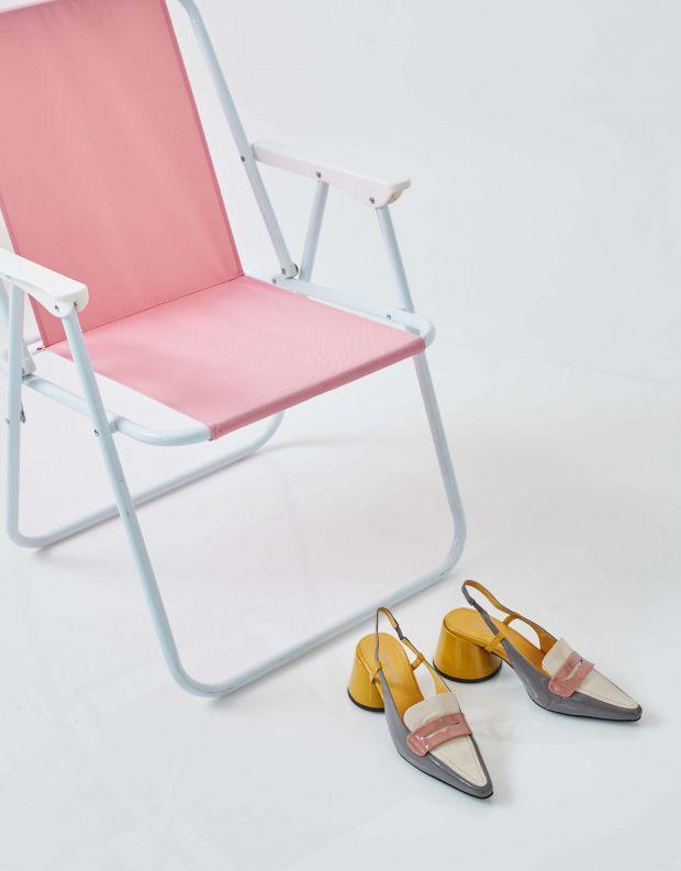 נעלי נשים - Jeffrey Campbell - נעלי סירה FERWAY - אפור   לבן