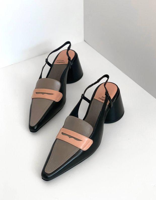 נעלי נשים - Jeffrey Campbell - נעלי סירה FERWAY - שחור אפור