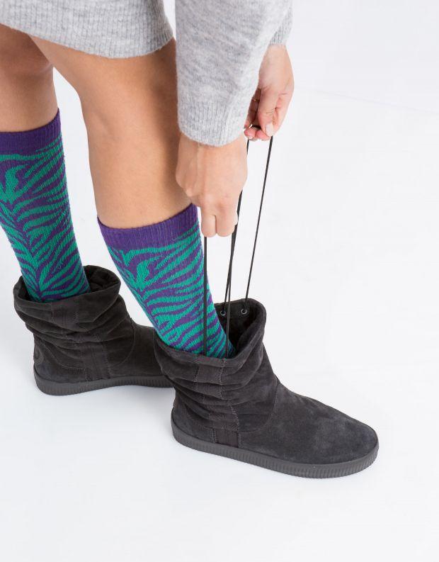 נעלי נשים - Aro - מגפון NOELLE  מתכווץ - אפור