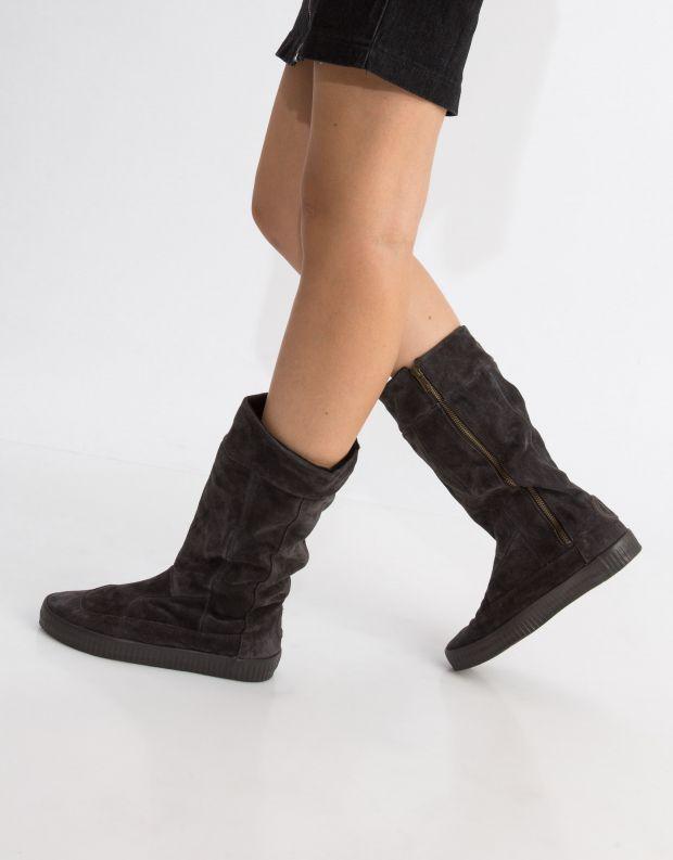 נעלי נשים - Aro - מגף NOELLE תיפורים - אפור