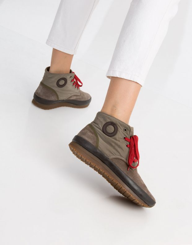 נעלי נשים - Aro - סניקרס גבוה JAQ - חום
