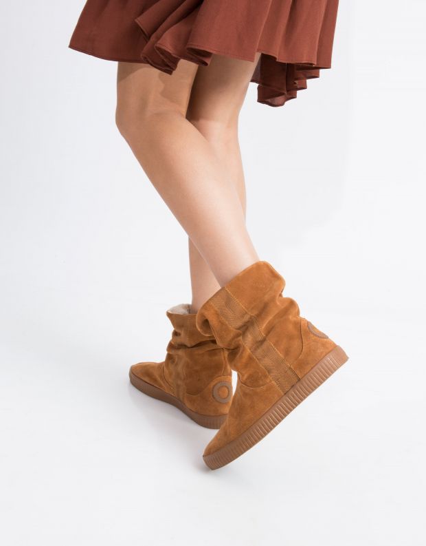 נעלי נשים - Aro - מגפון NOELLE  מתכווץ - קאמל