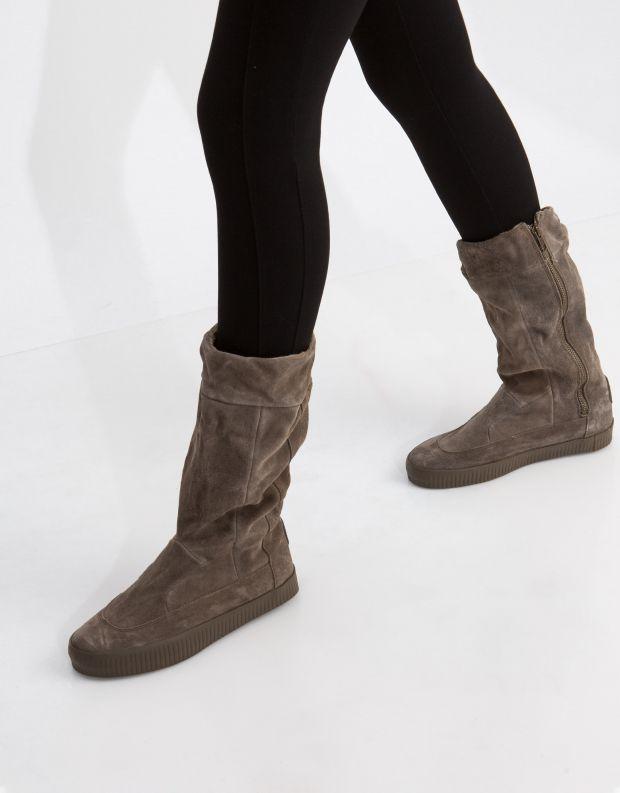 נעלי נשים - Aro - מגף NOELLE תיפורים - חום