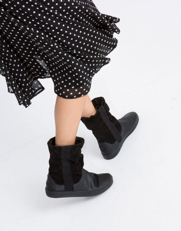 נעלי נשים - Aro - מגפון NOELLE  מתכווץ - שחור