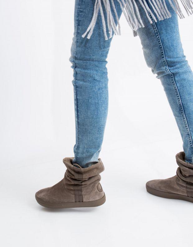 נעלי נשים - Aro - מגפון NOELLE  מתכווץ - חום