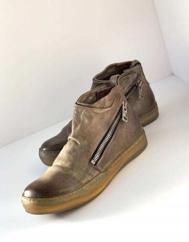 נעלי גברים - A.S. 98 - מגפיים עם רוכסנים SAGIT - אפור