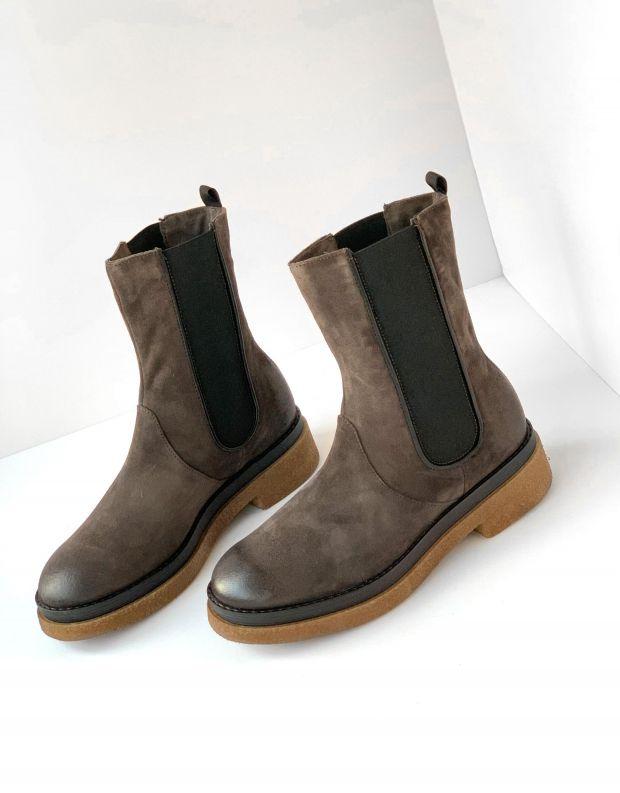 נעלי נשים - Mjus - מגפוני צ'לסי PARAT - אפור