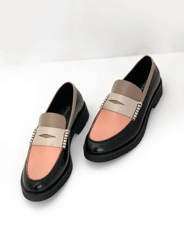 נעלי נשים - Jeffrey Campbell - נעליים צבעוניות LENNA - שחור אפור