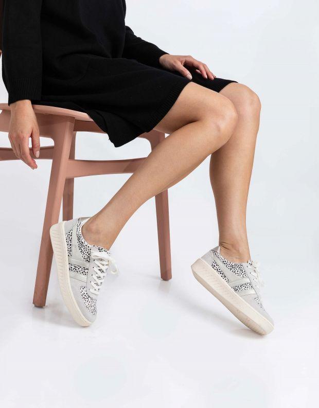 נעלי נשים - Gola - סניקרס GRANDSLAM SAVANNA - לבן נקודות