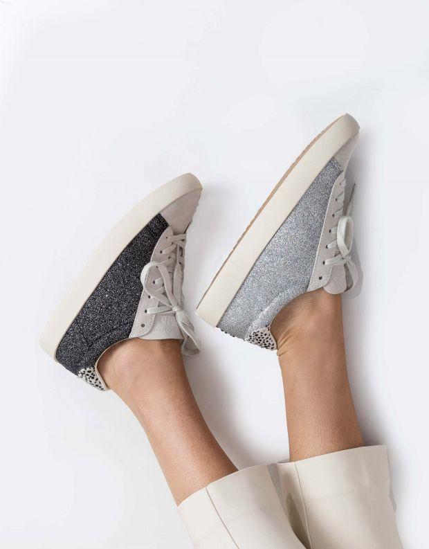 נעלי נשים - Gola - סניקרס NOVA GLITTER - שחור נצנצים