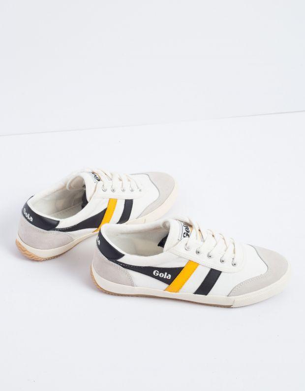 נעלי נשים - Gola - סניקרס BADMINTON - לבן   צהוב