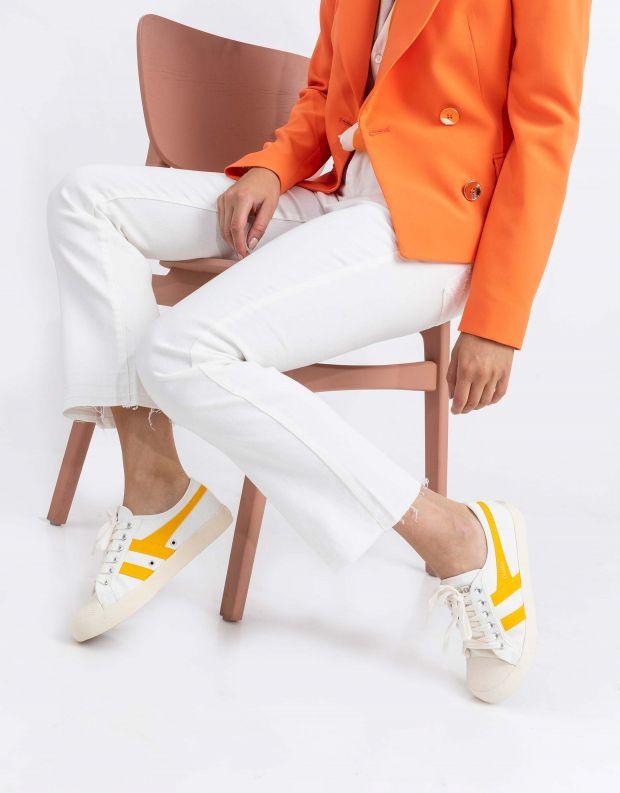 נעלי נשים - Gola - סניקרס COASTER - לבן   צהוב