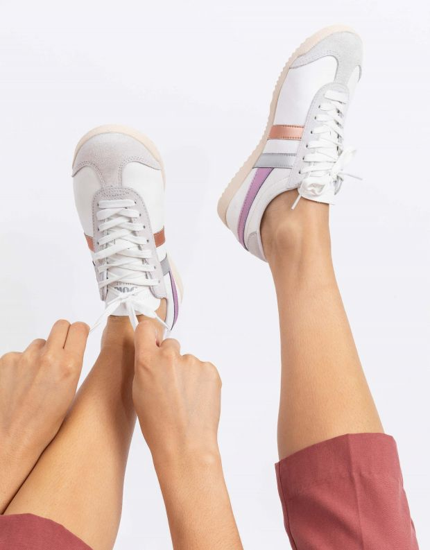 נעלי נשים - Gola - סניקרס BULLET TRIDENT - לבן
