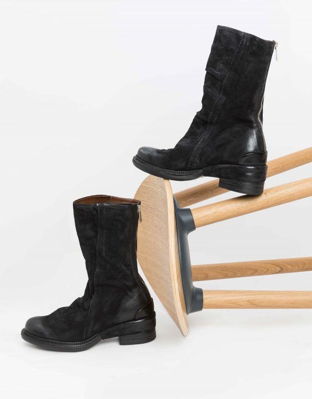 נעלי נשים - A.S. 98 - מגפי עור MIRACLE - שחור