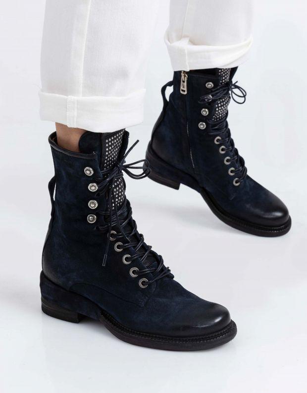 נעלי נשים - A.S. 98 - מגפיים MIRACLE לשון ניטים - כחול